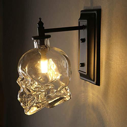 Cráneo Creative Vintage Industrial Lámpara de Pared de Cabeza de Calavera de...