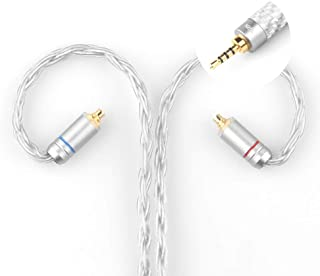 TRN T2 イヤホンリケーブル OFC純銅銀メッキ アップグレードケーブル 音分解分離能力向上 交換ケーブル 耳かけ型 柔かい 2PIN リケーブル Shure SE215 SE846 SE425 SE535 SE315UE900 / WESTONE W10 W20 W30 W40 W50 W60 等に対応 2.5mmプラグ mmcx グレー PLAYMM