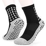 skrskr Calcetines de fútbol Antideslizantes para Hombre Calcetines Largos atléticos Calcetines Deportivos absorbentes para Baloncesto Baloncesto Voleibol Correr Trekking Senderismo 1 Pares / 3 Pares