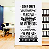 Fymural English Letter Quotes Sticker - WE are A Team Wall Decal Vinyl Removable for Livingroom Office Home Mural Paper DIY Decals 22.4x47.2',Black