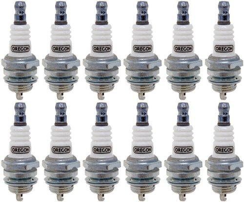 Oregon 12 Pack 77-307-1-12PK Spark Plug # Bosch WSR5F Champ RCj6Y NGK BPMR7A