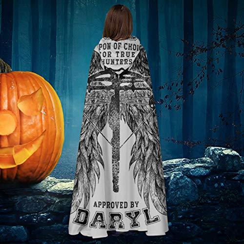 AISFGBJ The Walking Dead Armbrust genehmigt von Daryl Unisex Weihnachten Halloween Hexe Ritter Kapuzenmantel Vampir Umhang Cosplay Kostüm