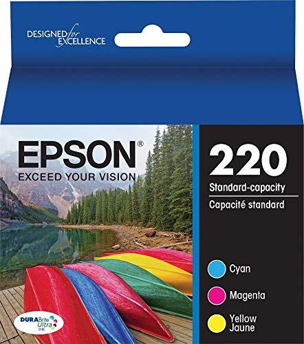 Genuine Epson 220 Color Cartridges Ink Genuine T220520 Cyan Magenta Yellow - Bulk