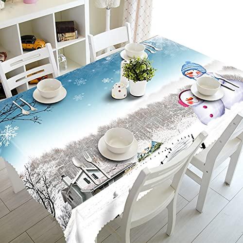 XXDD Mantel 3D Mantel de Cocina Decoraciones hogar Mesa de Fiesta Rectangular Cubierta de Mesa a Prueba de Polvo A16 150x210cm