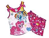 My Little Pony Girl's Rainbow Dash, Pinkie Pie Pajama Shorts Set (Medium 7/8)