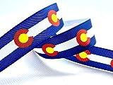 5 yards Colorado ribbon. Grosgrain party decorations. 7/8' width.