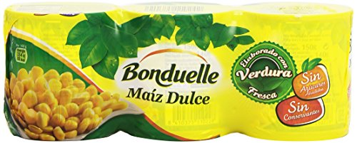 Bonduelle Maíz Dulce, Pack de 3 x 150g