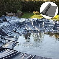 プールライナー HDPE製 0.4mmまたは0.5mm 池ライナー庭の池の防水シート 抗紫外線 人工池用 漏れ防止 豪雨対策 水害対策 貯水池 屋根 庭園 庭の池 プール (0.4mm,1.5×4m(4.92×13.12ft))