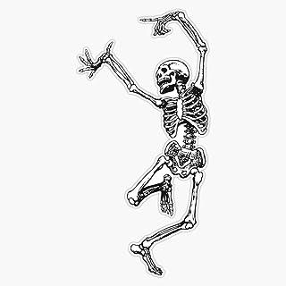 Vinyl Aufkleber mit tanzendem Skelett und Spaß, wasserfest, 12,7 cm