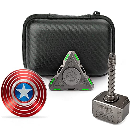 Handheld Desk Fidget Toy Spinners Metal Glow In The Dark Luminous Finger Hand Spinner for Adults Kids Stress Anxiety ADHD Relief Toys Party Favors Supplies Xmas Birthday Festival Stuffers Fillers Gift