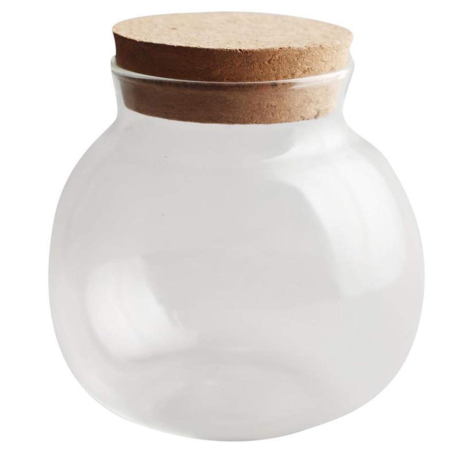 外側中断おもてなし収納瓶ガラスタンク耐熱スパイス収納ボトル透明キャンディジャーホームスパイス瓶