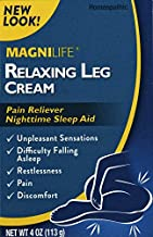 MagniLife Relaxing Leg Cream Pain Relief & Sleep Aid for Restless Legs, Cramping, Discomfort & Tossing - Natural Soothing, Deep Penetrating Topical with Magnesium & Lavender - 4oz