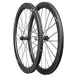 ICAN Carbon Wheels AERO 50 Road Bike Wheelset 50mm Clincher Tubeless Ready Disc Brake 12x100/12x142mm Only 1430g