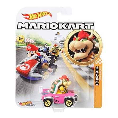 Hot Wheels Mario Kart, Macchinina Personaggio Bowser, Die-Cast, Giocattolo per Bambini 4 + anni, GBG31