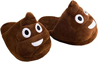 Slippers Emoji Poo Novelty Slippers Great Present Fun and Soft 1 Pair