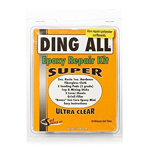 Kit de reparación de epoxi Ding All Unisex Super Kit de petaca con 1oz Fibrefill