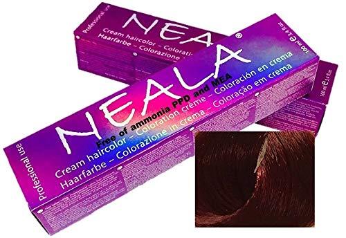 Professionele kleuring haarkleur zonder ammoniak en vrij van PPD en MEA - 7.55 - MEDIUM MAHONIE BLONDE ROOD - NEALA 100 ml.