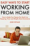 Easy Ways to Start Working from Home : How to Make Four Figures Per Month via Teespring, Fiverr and Shopify Store Ecommerce