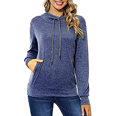 Amazon - 40% Off on  Women Lightweight Pullover Hoodies Casual Long Sleeve Drawstring