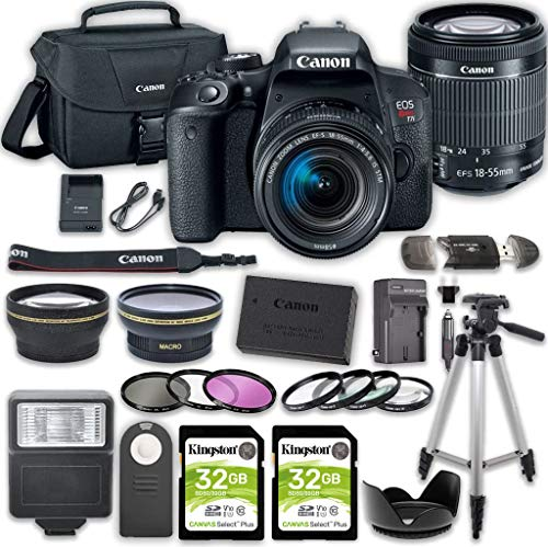Canon EOS Rebel T7i DSLR Camera Bundle with Canon...