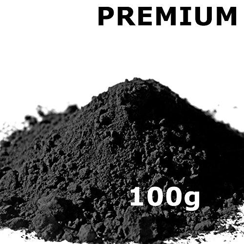 Pigmentpulver, Eisenoxid, Oxidfarbe - 100g (29,00€/kg) im Beutel Farbpigmente, Trockenfarbe für Beton, Epoxidharz + Wand - Farbe: schwarz/black