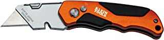 Klein Tools 44131 Folding Utility Knife, Heavy Duty, Triple Ground Blades Stay Sharp, Pocket Clip