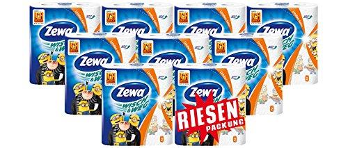 Zewa Wisch&Weg Fun Design Küchenrolle Riesenpackung 9 Packungen (je 2 Rollen x 72 Blatt)