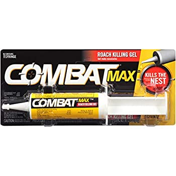 Combat Max Roach Killing Gel for Indoor and Outdoor Use 1 Syringe 2.1 Ounces
