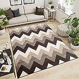 Tapiso Designer Teppich Wohnzimmer Teppich KURZFLOR BEIGE MODERN Muster MAROKKANISCH 60 x 100 cm