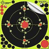 Splatterburst Targets -12 inch Adhesive Stick & Splatter Reactive Shooting Targets - Gun - Rifle - Pistol - Airsoft - BB Gun - Pellet Gun - Air Rifle (50 Pack)