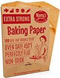 Heavy Duty Unbleached Parchment Paper Sheets for Half Sheet Pans 12x16 (100) Pre Cut Oven Baking Paper Sheets. Double Side Silicone Coated Parchment Paper for Baking. Great Cookie Sheet Liner.