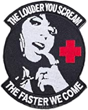 Morton Home The Louder You Scream The Faster we Come Badge Hook Loop Patches (Black)