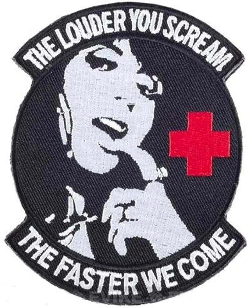 Morton Home The Louder You sheam The fasther we Come Badge Hook Loop Patches (Black)