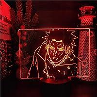 バンダイの痛みNARUTO 3D夜ライトアニメフィギュアLED NARUTO Shippuden Decoration Lighting Lamparaベッドルームネオン装飾ライト子供の誕生日クリスマスプレゼント-リモコン
