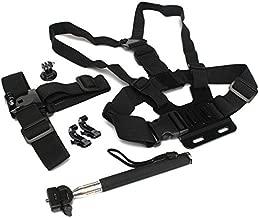 5 In 1 Chest Head Strap Mount Handle Monopod J-Hook Buckle Accessories For GoPro 2 3 3 Plus 4 Session Xiaomi Yi SJ4000 SJ5000 SJcam