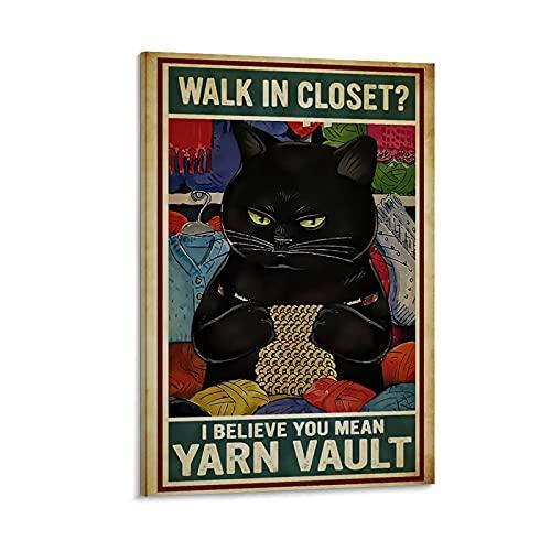Póster retro LPJ Walk In Closet Canvas Art Poster and Wall Art Impresión moderna de la decoración del dormitorio familiar de 30 x 45 cm