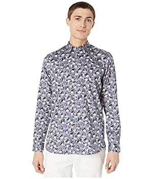 Ted Baker She Can Long Sleeve Bird and Flower Print Shirt Lilac 7  2XL