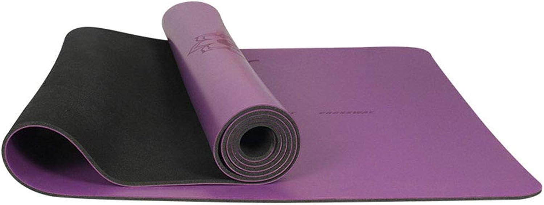 QYY PU Rubber Yoga Mat, 4.5MM Thick and Environment Friendly Tasteless Non-Slip Fitness Mat Yoga Mat übung Mat Pura Mat