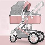 AYDQC 2 in 1 Cabrio-Reversible Baby-Kinderwagen, kompakter Reisewagen, eine Handfalte, leichte...