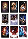 POSTER STOP ONLINE Star Wars Episode I, II, III, IV, V, VI, VII, VIII & IX - Movie Poster Set (9 Individual Full Size Movie Posters - Regulars Version 3) (Size 24 x 36')