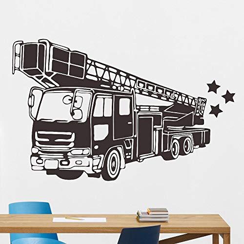 Vcnhln Tren Pegatinas de Pared de Dibujos Animados Boca de Incendios Coche vehículo Pared jardín de Infantes Interior Tatuajes de Pared habitación de los niños decoración familiar65x42cm
