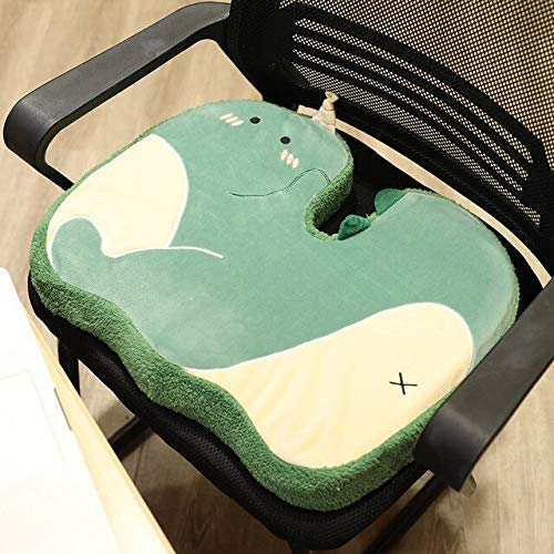 Memory Foam Pillow Chair Cushion Slow Rebound Thick Stool Non-slip Butt Office Sedentary 38x48cm dinosaur