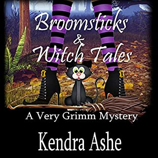 Broomsticks & Witch Tales audiobook cover art