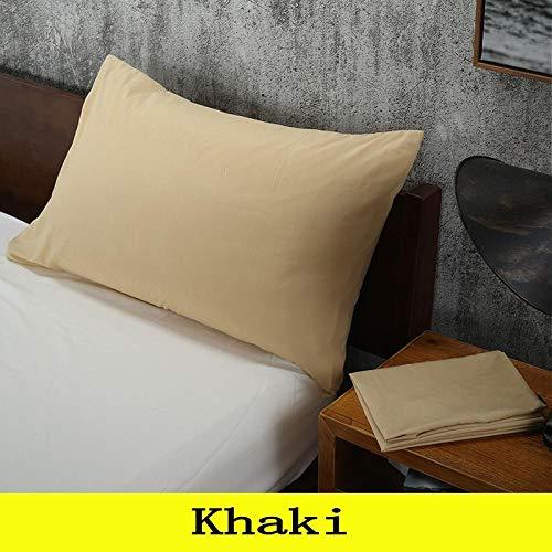 HNLHLY Funda de Almohada de Cama de Color sólido Funda de Almohada estándar Ropa de Cama Multicolor 47 * 74 cm, 1 Pieza-D