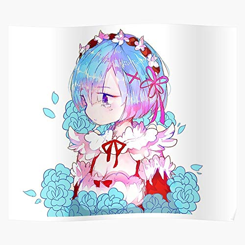 Manga Ram Subaru Rem Emila Felt Anime Natsuki Geschenk für Wohnkultur Wandkunst drucken Poster 11.7 x 16.5 inch