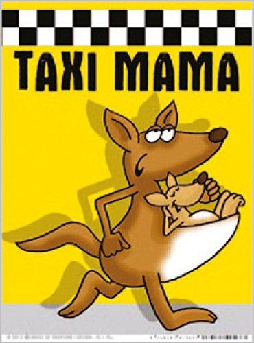 Parkscheibe Taxi Mama Känguru gelb schwarz