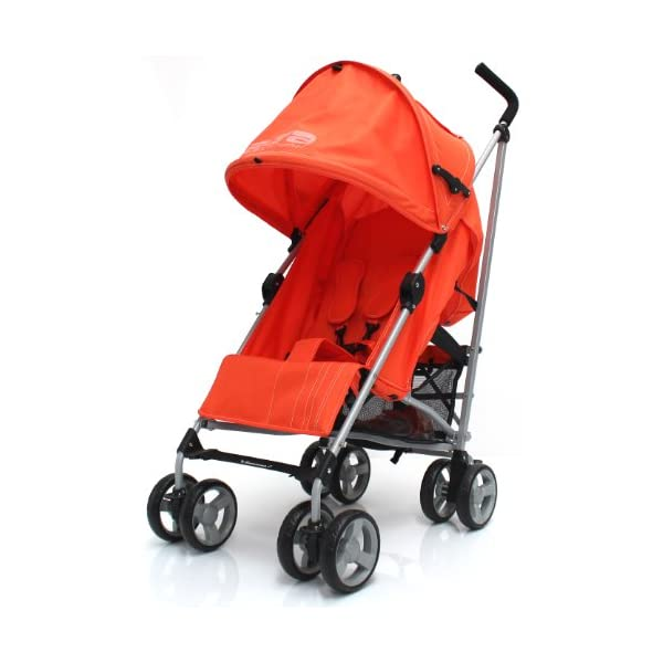 Zeta Vooom Stroller (Orange) ZETA Suitable From Birth Unique drop down privacy hood with parent window Complete with raincover 1