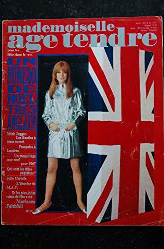 mademoiselle age tendre n° 27 1967 01 Mick Jagger Beatles Françoise Hardy Marianne Faithfull Chantal Goya Julie Christie
