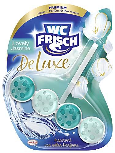 WC Frisch DeLuxe Lovely Jasmin, WC-Reiniger und WC-Duftspüler, 1 Stück, Parfüm für die Toilette