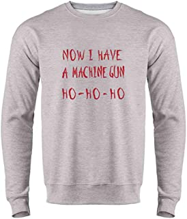 Now I Have a Machine Gun HO-HO-HO Christmas Xmas Crewneck Sweatshirt for Men